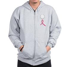 Pink Ribbon Golf Zip Hoodie