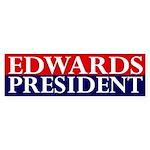 Edwards: President bumper sticker
