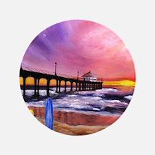 "Manhattan Beach Pier 3.5"" Button"