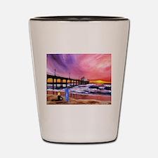 Manhattan Beach Pier Shot Glass