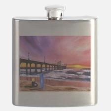 Manhattan Beach Pier Flask