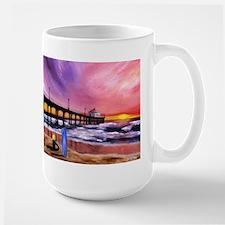Manhattan Beach Pier Large Mug