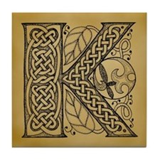 Celtic Letter K Tile Coaster