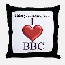 I Love BBC Throw Pillow