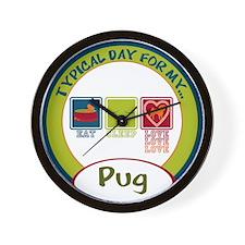 Pug Wall Clock