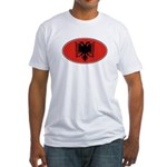Albanian Oval Flag Fitted T-Shirt