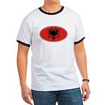 Albanian Oval Flag Ringer T
