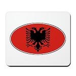 Albanian Oval Flag Mousepad