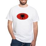 Albanian Oval Flag White T-Shirt