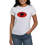 Albanian Oval Flag Women's T-Shirt