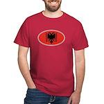 Albanian Oval Flag Dark T-Shirt