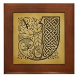 Celtic Letter J Framed Tile