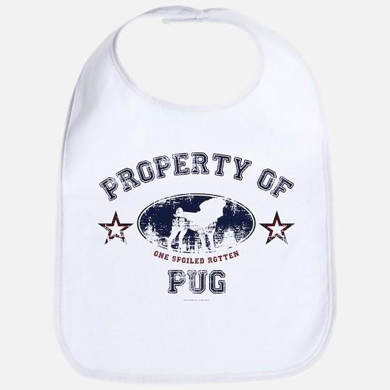 Property Of Pug Bib