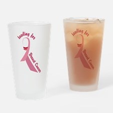 Breast Cancer Drinking Glass