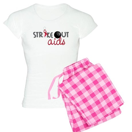 Strike Out Aids Women's Light Pajamas