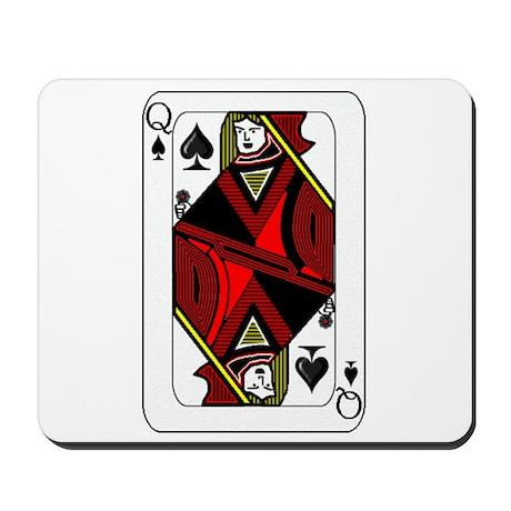 Queen of Spades Card Mousepad
