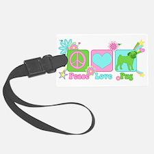 Peace Love Pug Luggage Tag