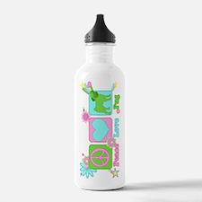 Peace Love Pug Water Bottle