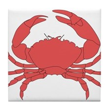 Red Crab Tile Coaster