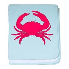 Red Crab baby blanket
