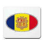Andorran Oval Flag Mousepad