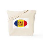 Andorran Oval Flag Tote Bag