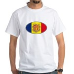Andorran Oval Flag White T-Shirt
