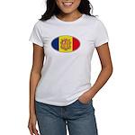 Andorran Oval Flag Women's T-Shirt