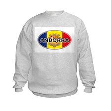 Andorran Oval Flag Sweatshirt