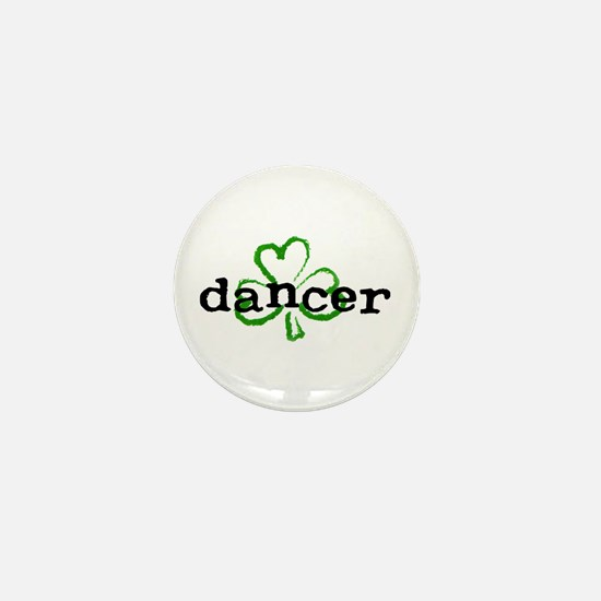 Irish Dancer Shamrock Mini Button