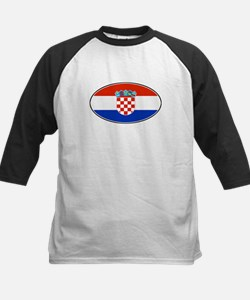 Croatian Oval Flag Kids Baseball Jersey