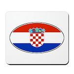 Croatian Oval Flag Mousepad