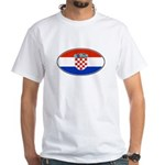 Croatian Oval Flag White T-Shirt