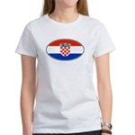 Croatian Oval Flag Women's T-Shirt