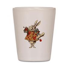 Alice White Rabbit Vintage Shot Glass