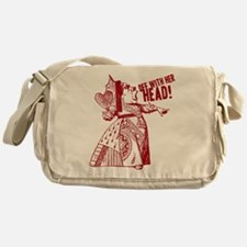 Red Queen Off With Her Head Messenger Bag