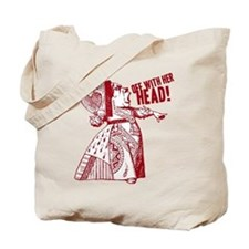 Red Queen Off With Her Head Tote Bag