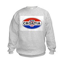 Croatian Oval Flag Sweatshirt