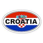 Croatian Oval Flag Oval Sticker