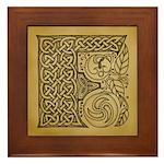 Celtic Letter F Framed Tile