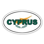 Cyprus Oval Flag Oval Sticker