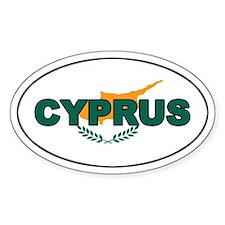 Cyprus Oval Flag Oval Decal