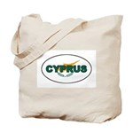 Cyprus Oval Flag Tote Bag
