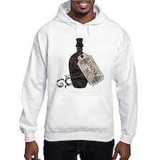 Drink Me Bottle Worn Hoodie Sweatshirt