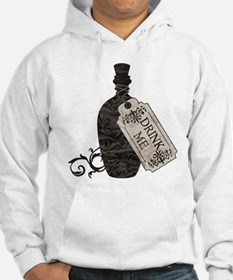 Drink Me Bottle Worn Hoodie Sweatshirt