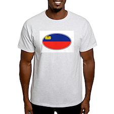 Liechtenstein Flag Ash Grey T-Shirt