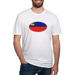 Liechtenstein Flag Fitted T-Shirt