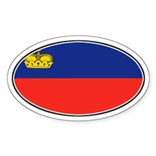 Liechtenstein Flag Oval Decal