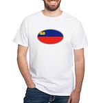 Liechtenstein Flag White T-Shirt