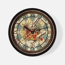 Alice White Rabbit Vintage Wall Clock